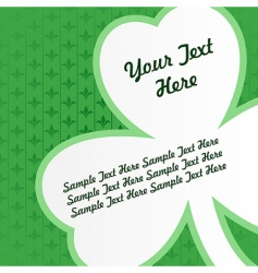 Vector clover card vector