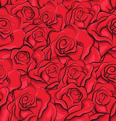 Vintage roses seamless pattern vector