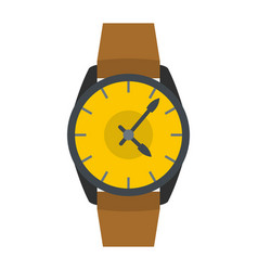 Wristwatch businessman icon flat style vector