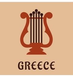 Ancient greek lyre culture symbol vector image vector image