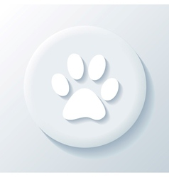 Animal 3D Paper Icon vector image vector image