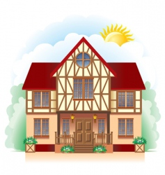 cottage detailed drawing vector image
