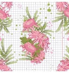 greeting hand-drawn chrysanthemum vector image vector image