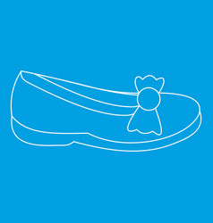 shoe icon outline style vector image vector image