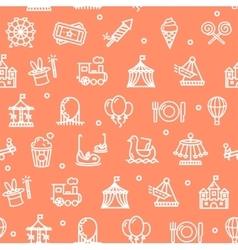 Amusement Park Background Pattern vector image