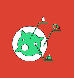Flat icon design collection satellite and elements vector