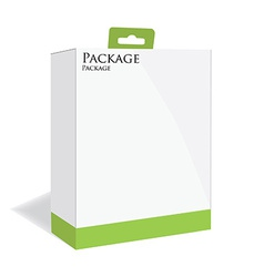Green software package vector image vector image