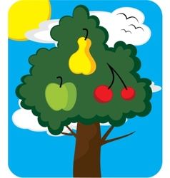 Orchard tree vector image vector image