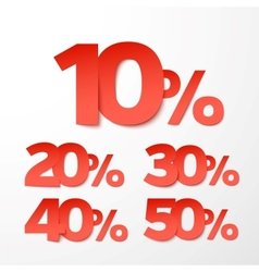 Sale percents Paper style vector image vector image