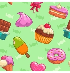 Sweets pattern vector image vector image