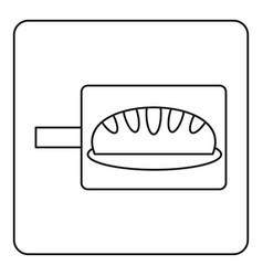 bread baking icon outline vector image