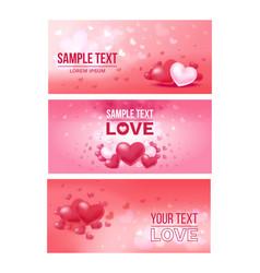 bright love festive horizontal banners vector image