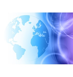 world on the blue background vector image vector image