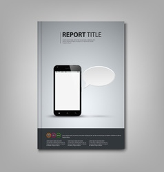 Brochures book or flyer with smart phone template vector image vector image