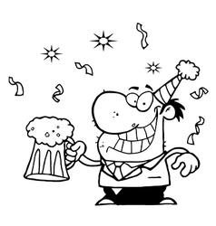 Businessman celebrating vector image vector image