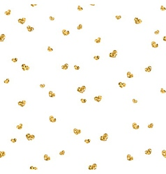Golden hearts seamless pattern 4 white vector