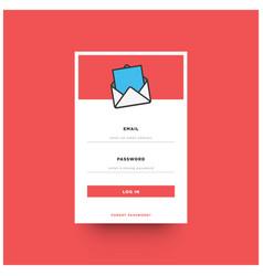 log in box ui design vector image vector image