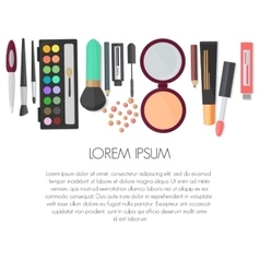 Set of colorful cosmetic isolated on a white vector image vector image