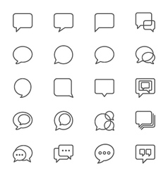 Speech bubble thin icons vector image vector image