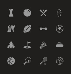 Sport - flat icons vector