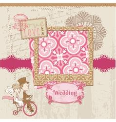 Wedding Scrapbook Card vector image vector image