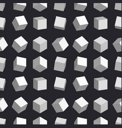 3d cubes seamless pattern box square vector image