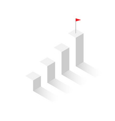 3d isometric column graph eps10 vector image