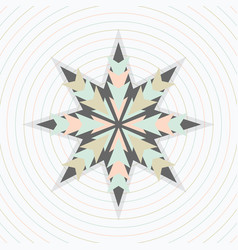 Abstract pastel circles pattern with star emblem vector