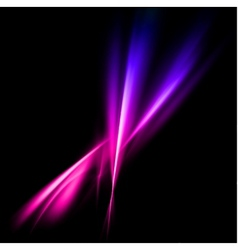 Abstract pink and violet rays lights vector