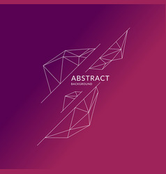 abstract polygonal objects in the background low vector image