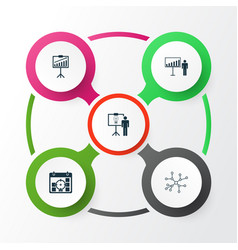 Administration icons set collection solution vector