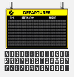 airport board mechanical timetable vector image