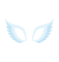 angel wings isolated feathers of bird on white vector image