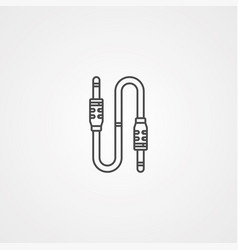 aux cable icon sign symbol vector image