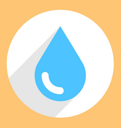 blue water drop sign circle icon vector image