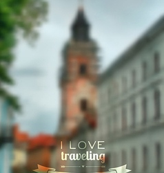 blurred traveling city background Web and mobile vector image