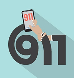 Call 911 Typography Design vector image