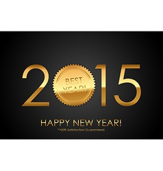 Certificate - 2015 Best Year 100 Satisfaction vector image