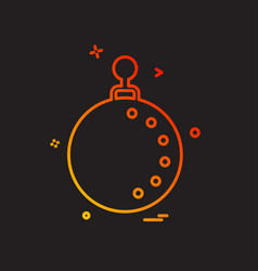 christmas ball icon design vector image