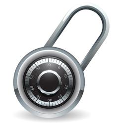 Code lock vector image