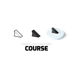 Course icon in different style vector image