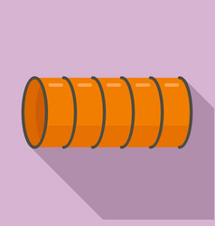 Dog training pipe icon flat style vector
