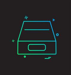 drive icon design vector image