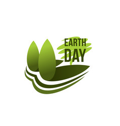 earth day planet ecology conservation icon vector image