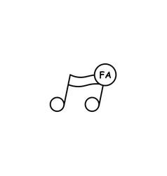 Fa note icon vector