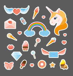 Fashion patch badges vector