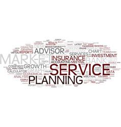 Financial service word cloud concept vector