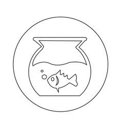 Fish bowl icon design vector