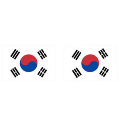 flag south korea taegukgi simple and slightly vector image