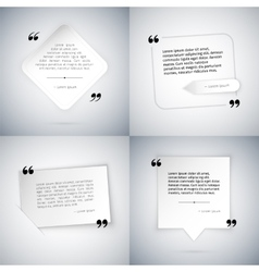 Four Simple Quote Templates vector